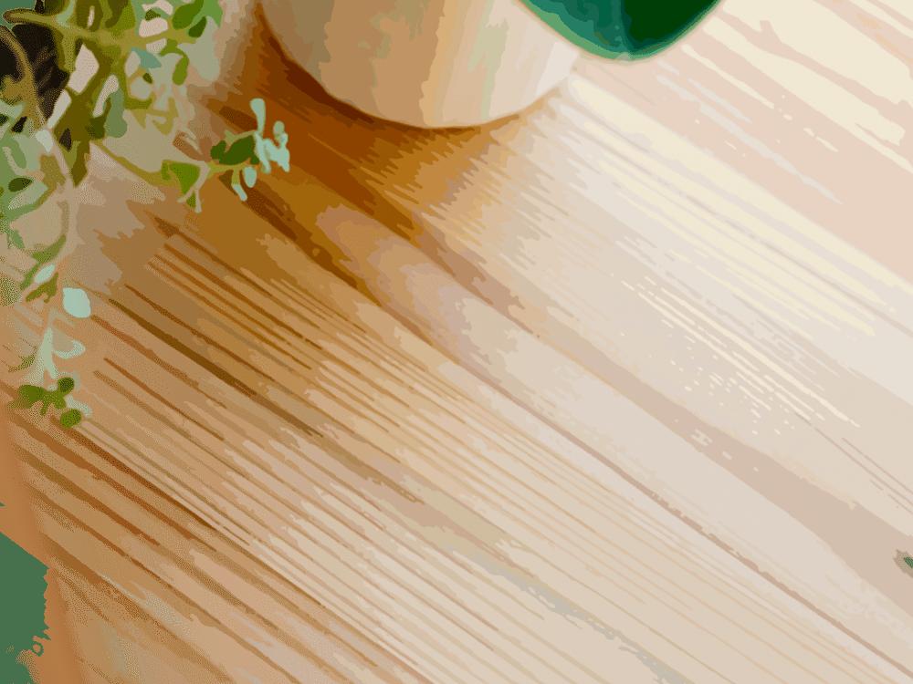 耳納杉のテーブルのイラスト