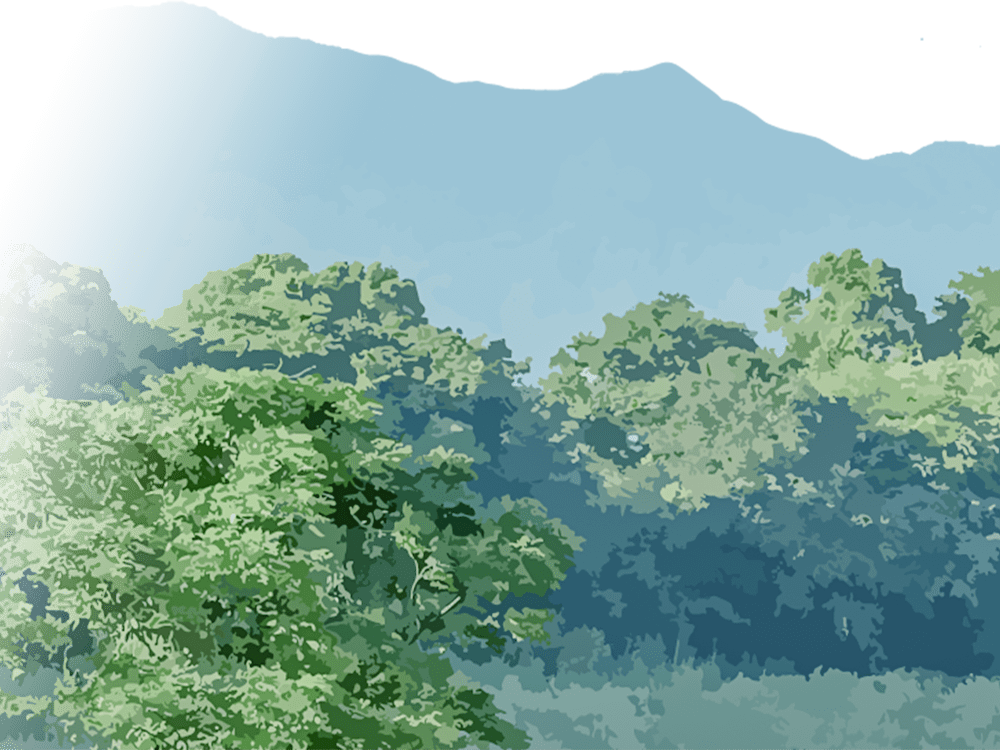 耳納連山の写真