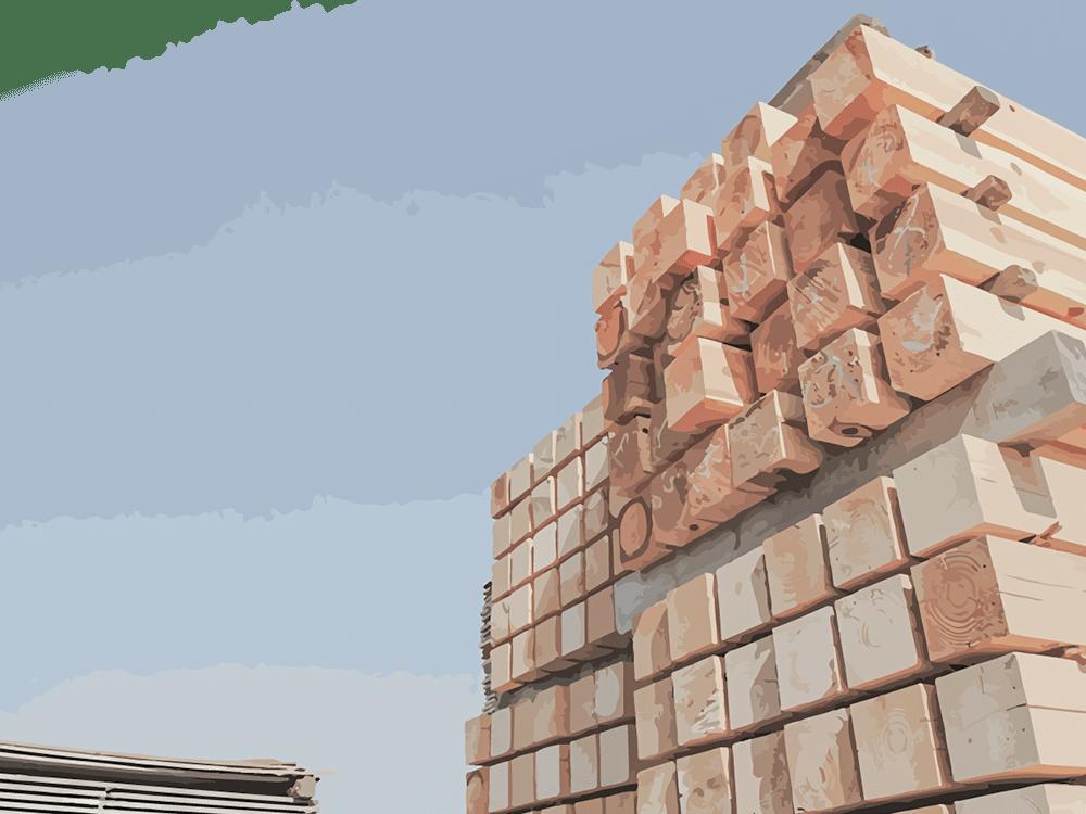 製材が終わった木材
