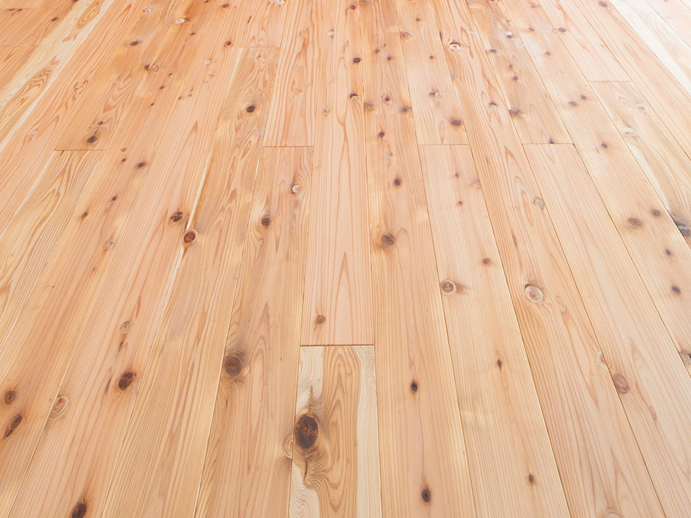 国産無垢材|耳納杉の床の写真