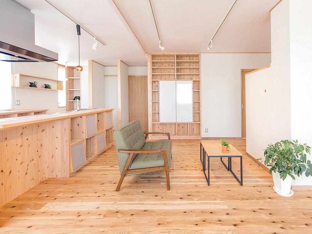 木箱 Kashiihama|リビングの写真