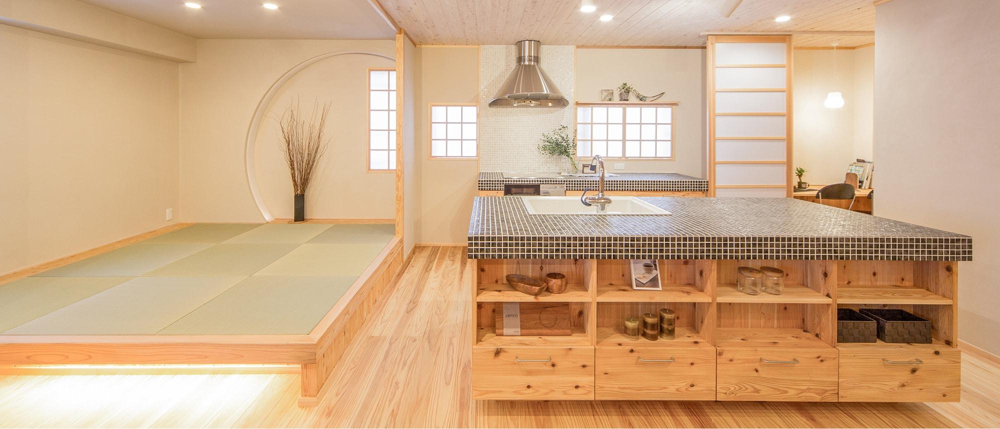 木箱 Sugi|キッチンと和室の写真
